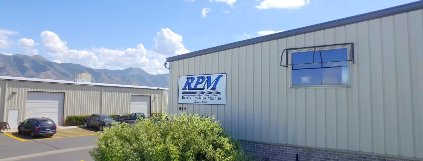 RPM Reed's Precision Machine Shop Building Front with Sign